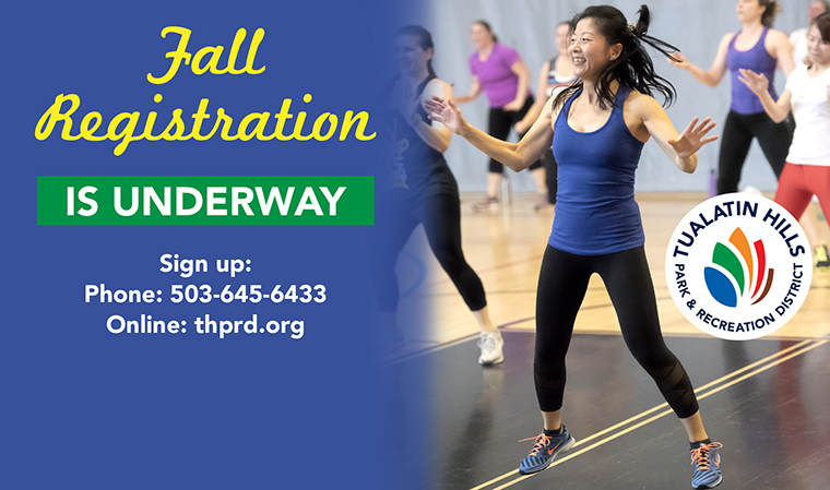 Register Today! - For fall classes & activities